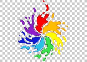 彩色油漆彩色漩涡彩色油漆飞溅插图PNG剪贴画水彩绘画,颜色飞溅,
