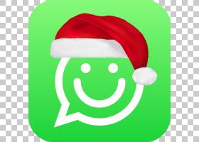 WhatsApp圣诞圣诞老人贴纸表情符号,PNG剪贴画爱,草,笑脸,贴纸,虚