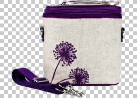 保温袋便当盒保温亚麻布紫色蒲公英PNG剪贴画紫色,紫色,背包,纺织