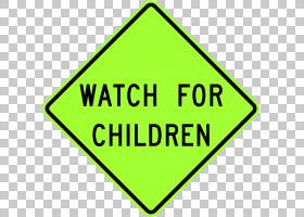 儿童在玩耍时警告标志安全道路标志PNG剪贴画角,儿童,驾驶,文本,