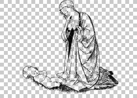 儿童耶稣女玛丽PNG剪贴画基督教,手,单色,人类,虚构人物,手臂,鞋,