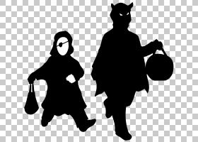 万圣节捣蛋阴影,捣蛋PNG剪贴画假期,虚构人物,剪影,黑色,党,闹鬼