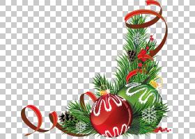 圣诞树圣诞节装饰品丝带,圣诞节糖果PNG clipart天然食品,功能区,