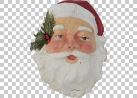 圣诞老人圣诞节装饰品面部毛发鼻子,圣诞老人PNG clipart脸,假期,