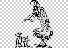绘制小精灵,仙尘PNG剪贴画杂项,白色,手,其他,单色,脊椎动物,虚构