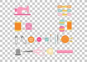 缝纫针缝纫机欧几里德纱,服装设计元素,针线包工具插图PNG剪贴画