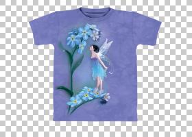 花仙子童话精灵,童话PNG剪贴画紫色,t恤,蓝色,紫罗兰色,小精灵,花