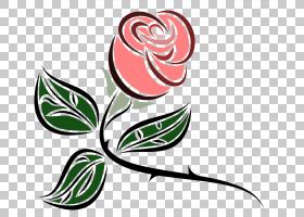 玫瑰粉红,荆棘PNG剪贴画叶,分支机构,颜色,植物茎,花,鲜花,艺术品