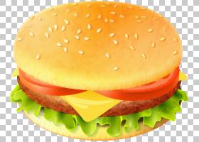 汉堡芝士汉堡快餐Whopper素食汉堡,汉堡包PNG剪贴画食品,奶酪,芝