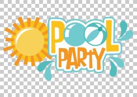 派对游泳池,女贞派对,泳池派对插图PNG剪贴画假期,文本,橙色,房间