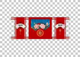 婚礼,中国传统婚礼背景PNG剪贴画边框,假期,中国风格,矩形,复古,