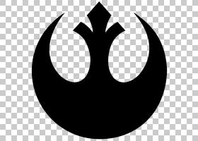 反叛联盟星球大战标志银河帝国,星球大战PNG剪贴画单色,剪影,黑色