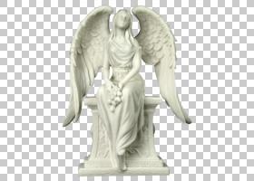 哀悼雕象天使哭泣的天使石雕塑,情人节海报背景材料psd PNG clipa图片