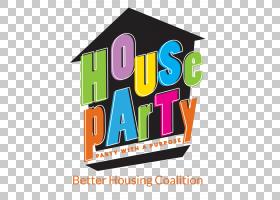 House Party平面设计,vip生日派对PNG剪贴画假期,文字,标志,派对,