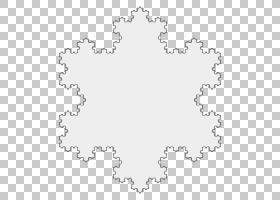 Koch雪花迭代分形曲线,雪花PNG剪贴画边框,白色,文本,云,几何形状