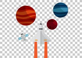 Adobe Illustrator,平面空气火箭PNG剪贴画航天器,生日快乐矢量图