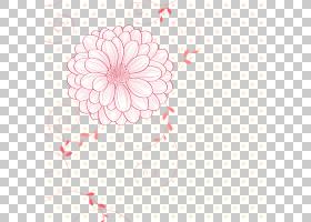 Adobe Illustrator海报插图,艺术品鲜花背景, - 材料PNG剪贴画纺