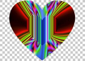 折射颜色,其他PNG剪贴画杂项,心脏,其他,对称性,颜色,洋红色,迷幻