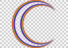 满月月相,新月PNG剪贴画月亮,彩虹,点,夜晚天空,大自然,区域,月相