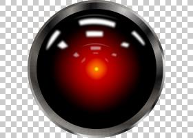 普尔与HAL 9000弗兰克普尔太空奥德赛电脑,眼睛,圆形银色和黑色PN