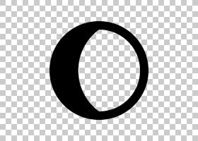 月相月亮星座符号绘图,新月PNG剪贴画黑色,月亮,占星术符号,相位,