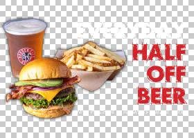 汉堡芝士汉堡快餐早餐三明治素食汉堡,啤酒促销PNG剪贴画食品,食