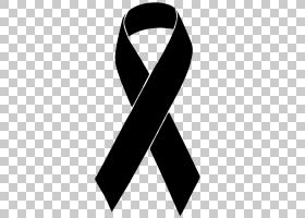黑丝带意识丝带哀悼,丝带PNG剪贴画织带,吊牌,领带,黑,意识,悲伤,