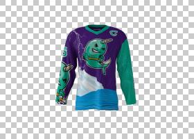 T恤曲棍球运动衫袖子冰上曲棍球,独角鲸PNG剪贴画T恤,团队,球衣,