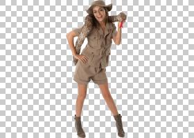 T恤服装派对Safari夹克服装,野生动物园PNG剪贴画万圣节服装,服装