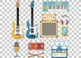 乐器鼓打击乐,手绘乐器PNG剪贴画水彩绘画,生日快乐矢量图像,手绘