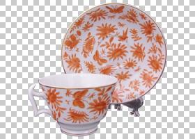 餐具茶碟瓷器Mottahedeh&Company咖啡杯碟PNG剪贴画杂项,板,橙色