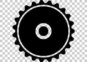 齿轮形状填充PNG剪贴画单色,暗,免版税,桌面壁纸,形状,单色摄影,