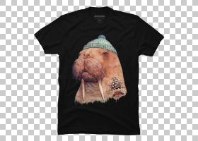 海象PNG剪贴画t恤,动物,连帽衫,口鼻部,顶部,运动裤,运动衫,t恤,