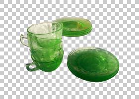 玻璃塑料餐具杯玉茶碟PNG剪贴画玻璃,碟子,玉石,杯,绿色,塑料,餐
