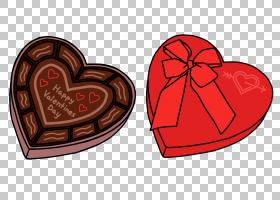 白巧克力情人节心巧克力糖果PNG剪贴画爱,食品,宾,心,巧克力盒子