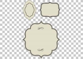 绘画,旧框边框素材经典,三个白色的各种形状插图PNG剪贴画边框,其