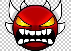几何破折号YouTube恶魔几何PNG剪贴画脸,头,笑脸,魔鬼,图形设计师