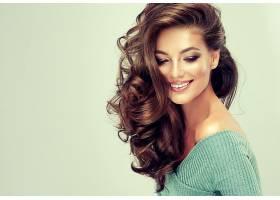 女人,模特,,妇女,女孩,微笑,黑发女人,长的,头发,壁纸,