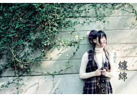 女人,亚洲的,女孩,模特,妇女,黑色,头发,壁纸,(15)