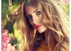 女人,模特,,妇女,女孩,白皙的,口红,蓝色,眼睛,脸,壁纸,