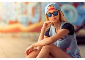 女人,模特,,妇女,女孩,白皙的,太阳镜,帽子,深度,关于,领域,壁纸,