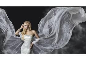 女人,模特,,妇女,女孩,白皙的,穿衣,耳环,口红,蓝色,眼睛,壁纸,图片