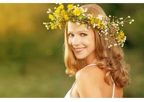 女人,模特,,妇女,女孩,红发的人,微笑,蓝色,眼睛,花冠,壁纸,