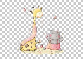长颈鹿卡通,长颈鹿,粉红色,长颈鹿,墙贴花,婴儿,绘画,打印,绘图,