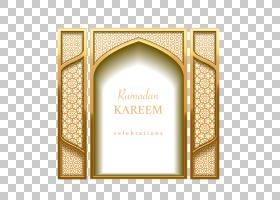 伊斯兰几何图案,矩形,相框,文本,黄色,伊斯兰新年,伊斯兰教的象征