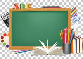 桌面学校教育学校带有棕色框架插图的绿色黑板PNG剪贴画文本,免版