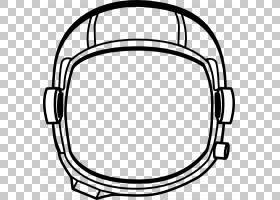 宇航员宇航员PNG剪贴画白色,单色,外太空,黑色,头盔,线,线条艺术,