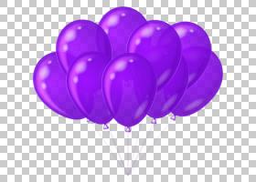 气球紫色生日图库插图,紫色蛋糕的PNG剪贴画紫色,紫罗兰色,心,气
