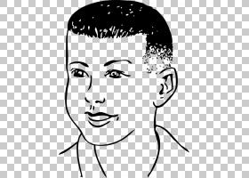 梳子发型头发PNG剪贴画白色,儿童,脸,黑发,手,人民,时尚,单色,人