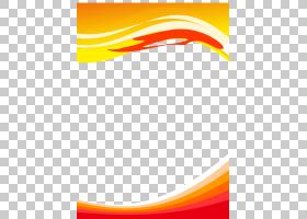 文案,橙色波浪板文案,火焰框架插图PNG剪贴画角,文本,板,海报,波